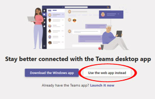 Microsoft teams first screen