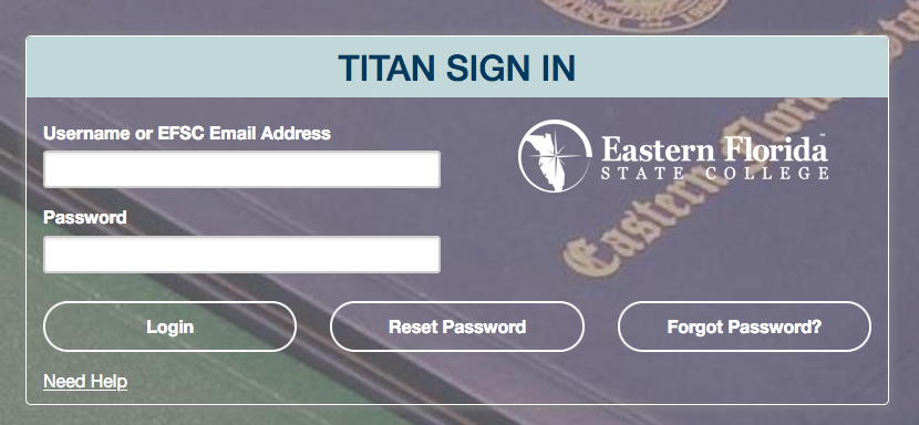 New Titan Sign in Box with Username and Password fields