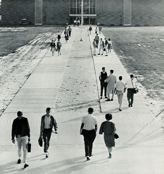 students at Cocoa Campus of Brevard Junior College in 1965