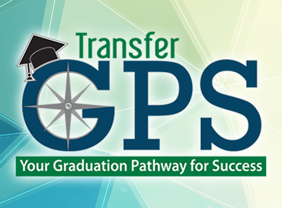 Transfer GPS graphic with grad cap - text: Your Graduation Pathway for Success