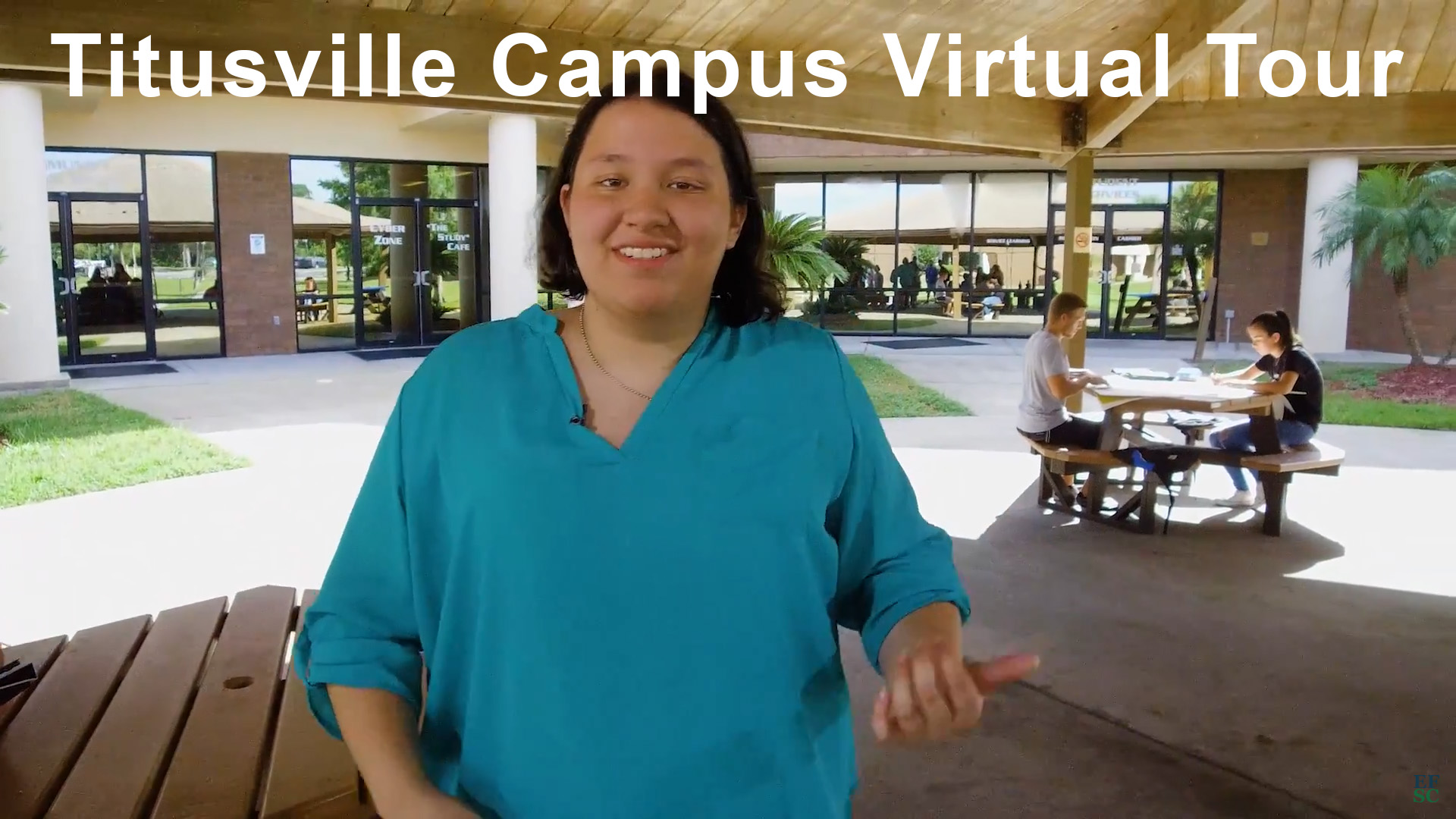 EFSC female student on Titusville Campus